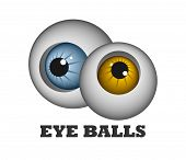 stock photo of hypertrophy  - An illustration of two funny eye balls - JPG