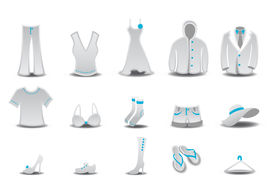 picture of clothes hanger  - illustration set of fashion Clothing and Accessories Icons - JPG