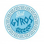 pic of gyro  - greek gyros sign - JPG