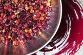 stock photo of wine-press  - Background of Making red wine - JPG