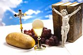 stock photo of eucharist  - Symbol christianity religion  - JPG