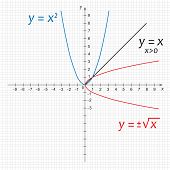 picture of mathematics  - Vector illustration of mathematics functions on the grid - JPG