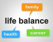image of equality  - Life Balance Representing Equal Value And Equality - JPG