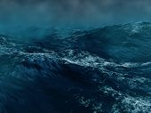 stock photo of storms  - Hard storm and hurricane in the sea - JPG