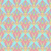 stock photo of symmetry  - Fantasy abstract seamless pattern. Multiform symmetry vertical ornament. - JPG