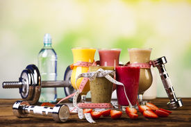 image of fruit shake  - Healthy diet - JPG