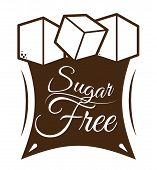 image of free-trade  - Sugar free over white background - JPG