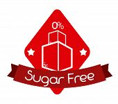 pic of free-trade  - Sugar free over white background - JPG