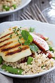 pic of tabouleh  - Couscous salad with green beans - JPG