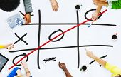 stock photo of tic  - Tic Tac Toe Game Competition XO Win Challenge Concept - JPG