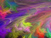 picture of psychodelic  - Abstract shapes made of fractal textures - JPG