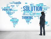 picture of solution  - Solution Solve Problem Strategy Vision Decision Concept - JPG