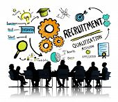 picture of recruiting  - Ethnicity Business People Recruitment Meeting Discussion Concept - JPG