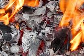 picture of ember  - Charcoal Embers Close - JPG