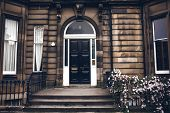 image of mew  - Front black door in Edinburgh - JPG