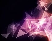 picture of plexus  - Illustration of abstract pink triangle particles - JPG