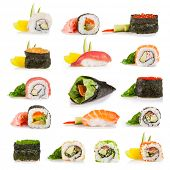 picture of sushi  - Set of sushi pieces - JPG