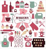 foto of cake-mixer  - Bakery icons set - JPG