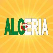 picture of algeria  - Algeria flag text with sunburst illustration - JPG