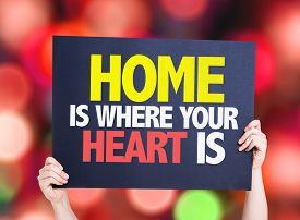 picture of soulmate  - Home is Where Your Heart Is card with bokeh background - JPG
