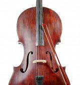 stock photo of cello  - Cello isolated ob white - JPG