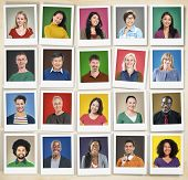 image of human face  - People Diversity Faces Human Face Portrait Community Concept - JPG