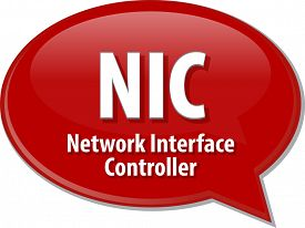 foto of nic  - Speech bubble illustration of information technology acronym abbreviation term definition NIC - JPG