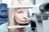 stock photo of medical doctors  - optometry concept  - JPG