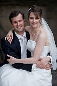 foto of wedding couple  - young wedding couple  - JPG