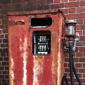 foto of bowser  - Rusted old gas pump - JPG