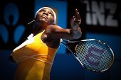MELBOURNE, AUSTRALIA - JANUARY 23: Serena Williams on her way to the 2010 Australian Open title. Jan