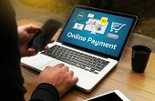 Online Payment Add To Cart Online  Order Store Buy Shop  Online Payment Shopping Business And Modern poster