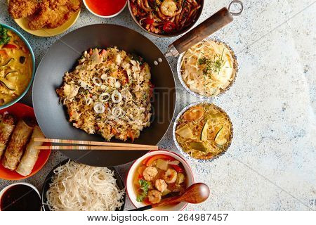 Traditional Chinese or Thai food