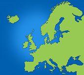 Basic Map Of Europe poster