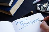 Insulin Resistance Handwritten In A Note Pad. poster