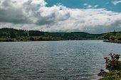 The Lake Caused By Fernworth Dam In Dartmoor National Park, Devon, United Kingdom poster