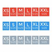 Fabric Ribbon Tags. Clothing Label Size Collection. Size Xxl And M, L And S poster
