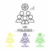 Leadership Skills Line Color Icons. Element Of Human Resources Icon For Mobile Concept And Web Apps. poster
