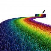 Постер, плакат: 3D красочные трава на белом фоне