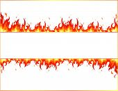 stock photo of flames  - Fire flame banner - JPG