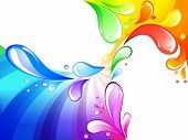 stock photo of summer fun  - Vector of multicolored drops background - JPG