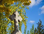 Stone Cross In The Cemetery. Quiet Abode poster