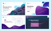 Set Of Web Page Design Templates With Abstract Background For Marketing, Seo, Website Design. Modern poster