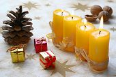 image of x-max  - Christmas still life with candlelight and gingerbread - JPG