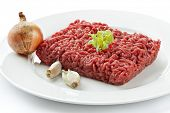 picture of ground-beef  - Close up raw ground beef - JPG