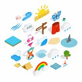 Water Recreation Icons Set. Isometric Set Of 25 Water Recreation Vector Icons For Web Isolated On Wh poster