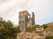 Corfe Castle Up Close Building Ruins Dorset South poster