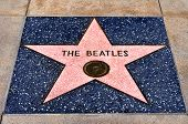LOS ANGELES - OCTOBER 16: The Beatles star in Hollywood Walk of Fame on October 16, 2011 in Los Ange