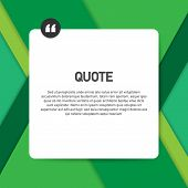 Quote Background Vector. Creative Modern Material Design Quote Template. Vector Illustration. poster