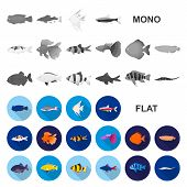 Bio And Ecology Flat Icons In Set Collection For Design. An Ecologically Pure Product Vector Symbol  poster